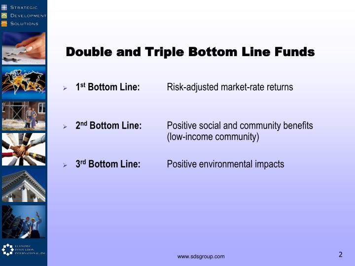 Double and Triple Bottom Line Funds