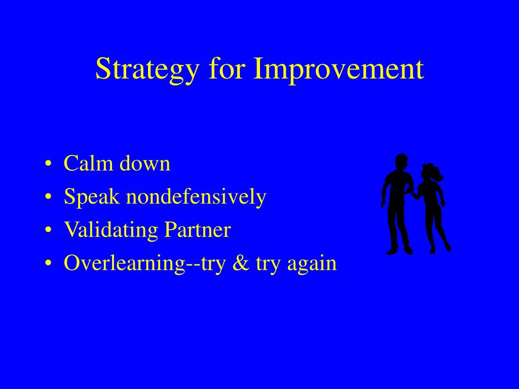 Strategy for Improvement