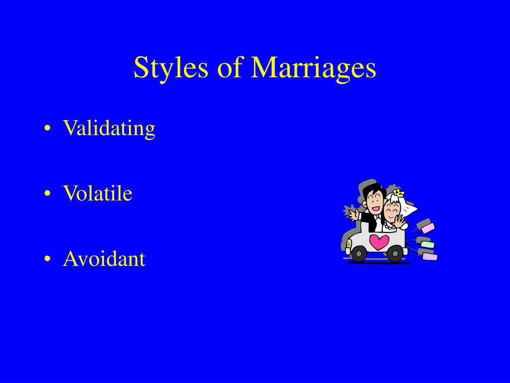 Styles of Marriages