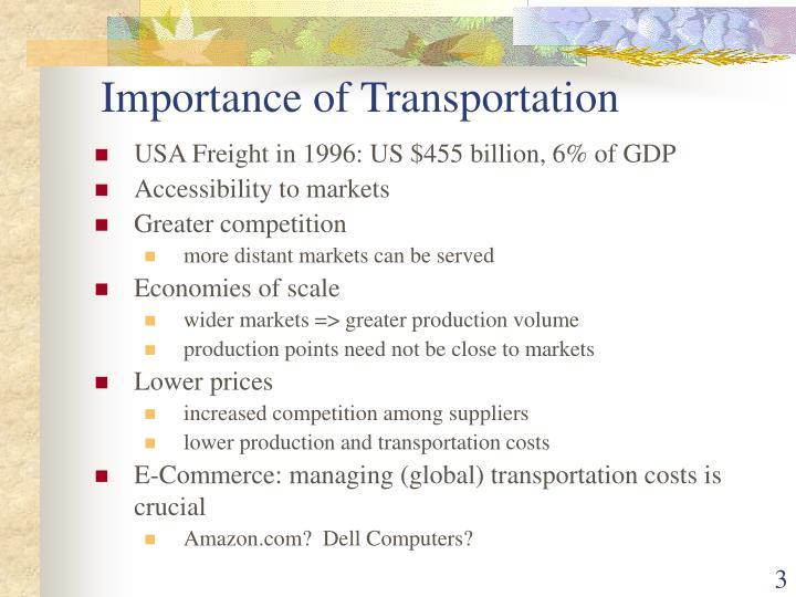 Importance of Transportation