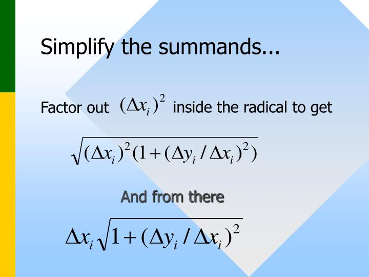 Simplify the summands...