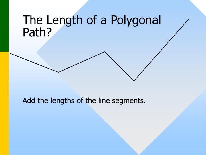 The length of a polygonal path