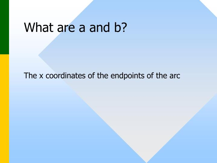 What are a and b?