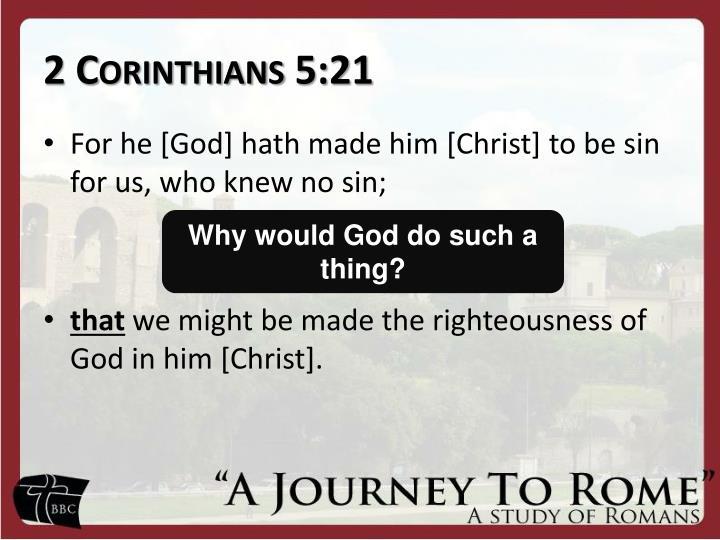2 Corinthians 5:21