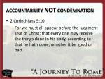 accountability not condemnation