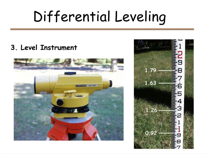 Differential leveling2