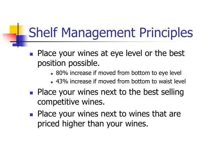 Shelf Management Principles