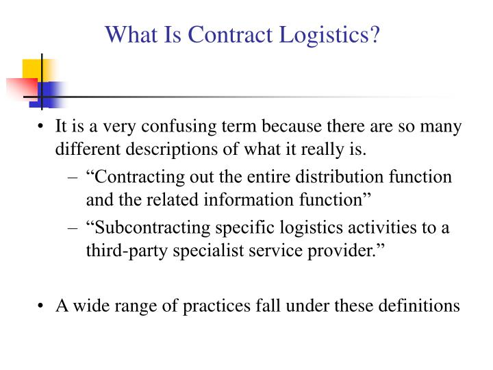 What Is Contract Logistics?