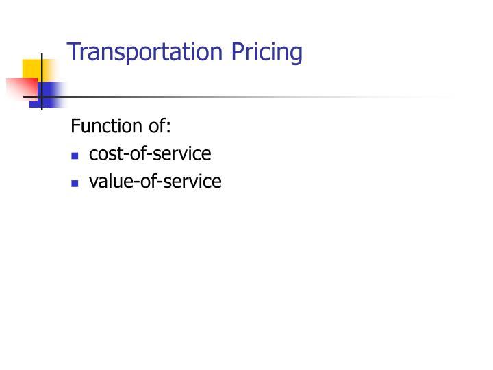Transportation Pricing