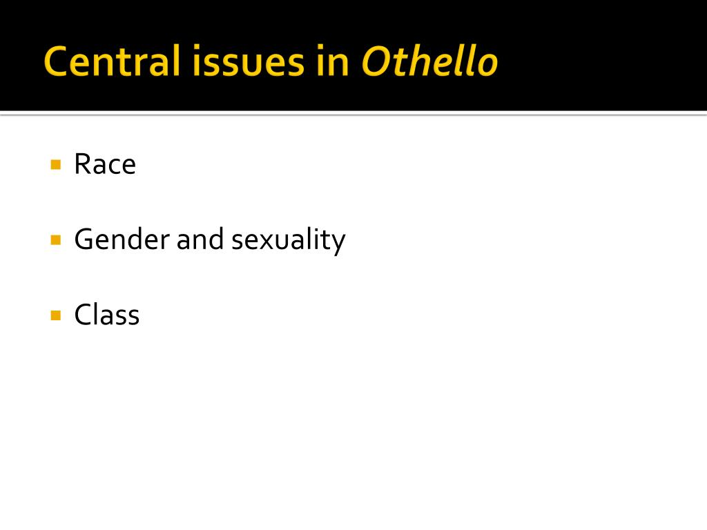 Central issues in