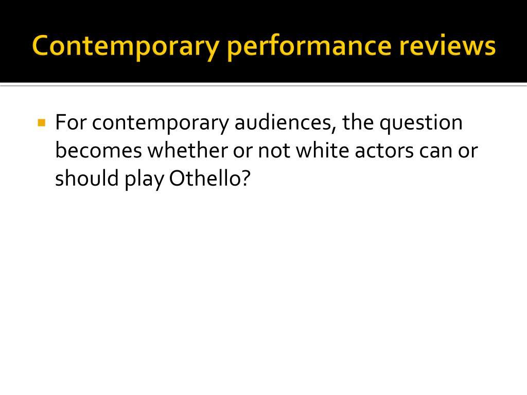 Contemporary performance reviews