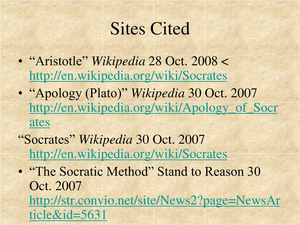 Sites Cited