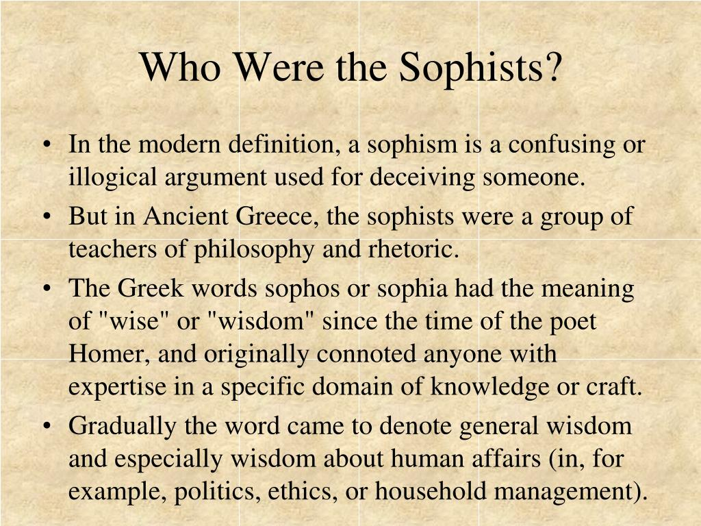 Who Were the Sophists?