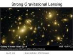 strong gravitational lensing