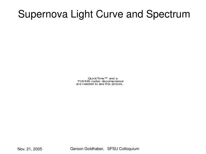 Supernova Light Curve and Spectrum