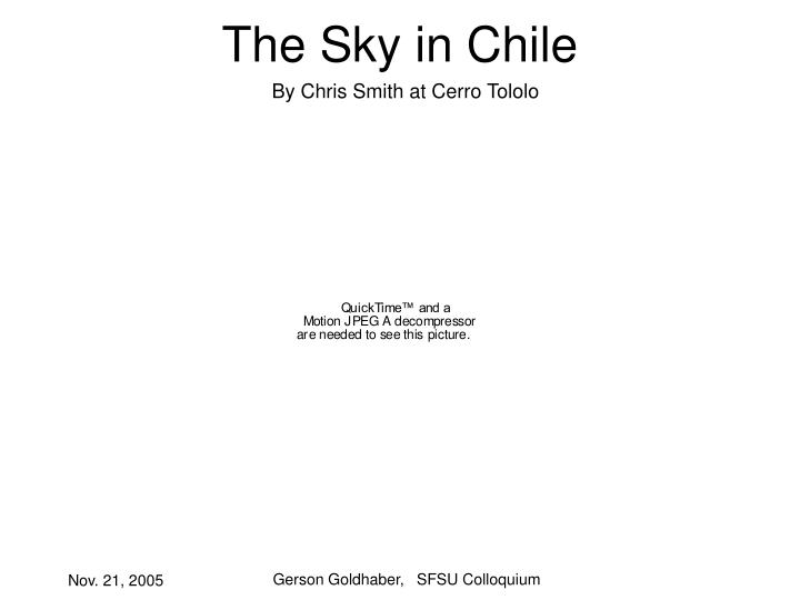 The Sky in Chile