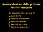 movimentazione delle proteine traffico vescicolare