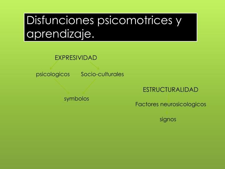 Disfunciones psicomotrices y aprendizaje.