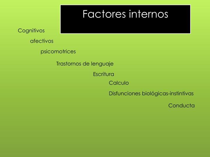 Factores internos