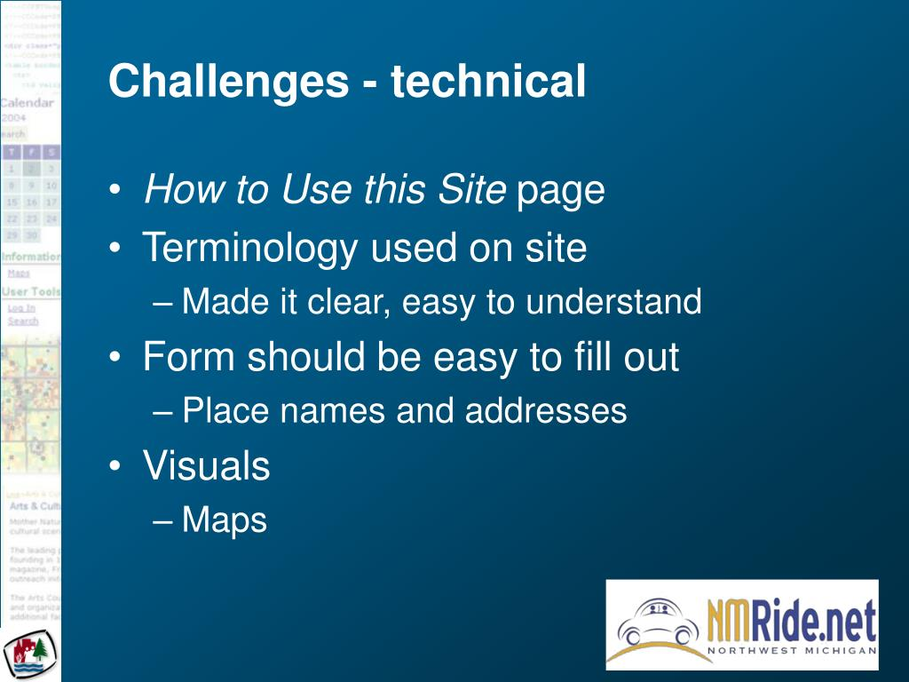 Challenges - technical