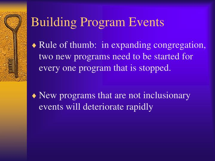 Building Program Events