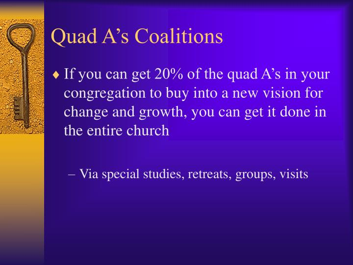 Quad A's Coalitions