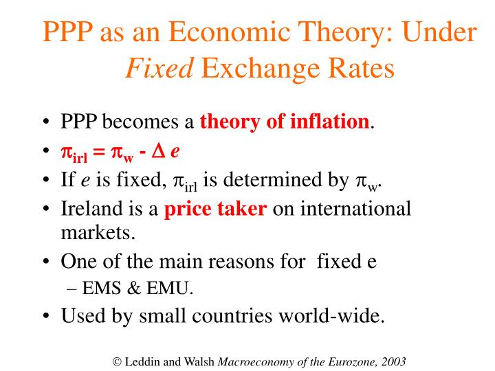 PPP as an Economic Theory: Under
