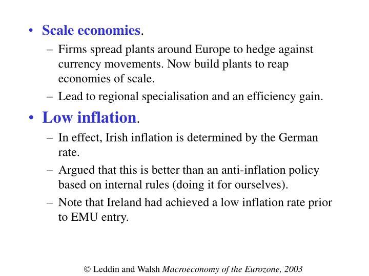 Scale economies