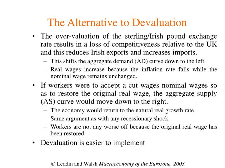The Alternative to Devaluation