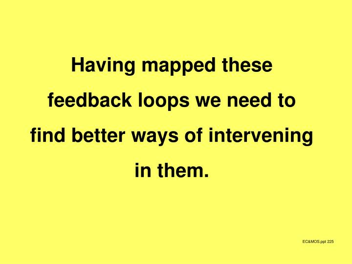 Having mapped these feedback loops we need to find better ways of intervening in them.