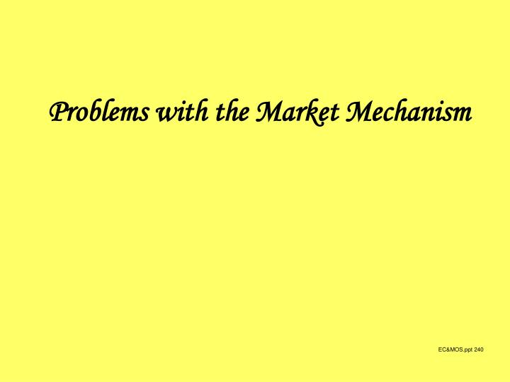 Problems with the Market Mechanism