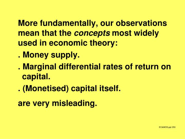 More fundamentally, our observations mean that the