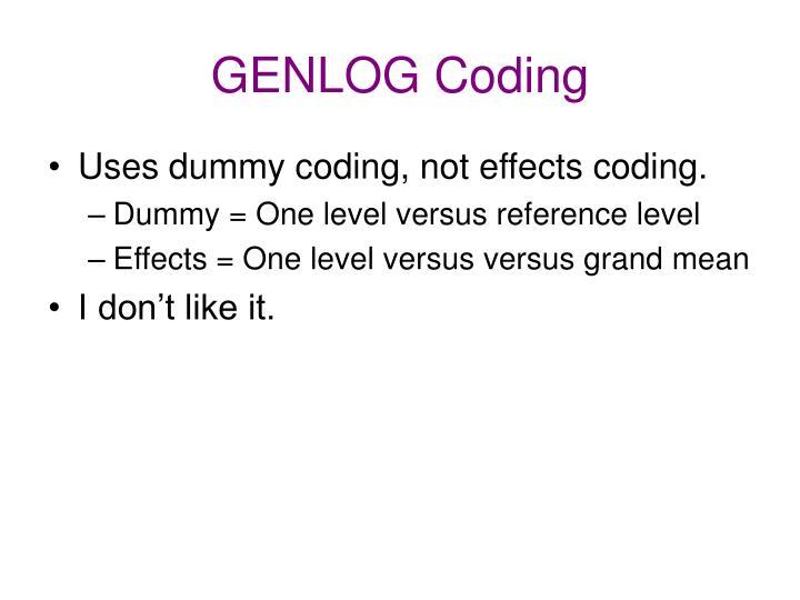 GENLOG Coding