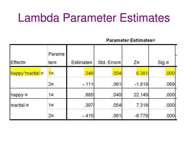 Lambda Parameter Estimates