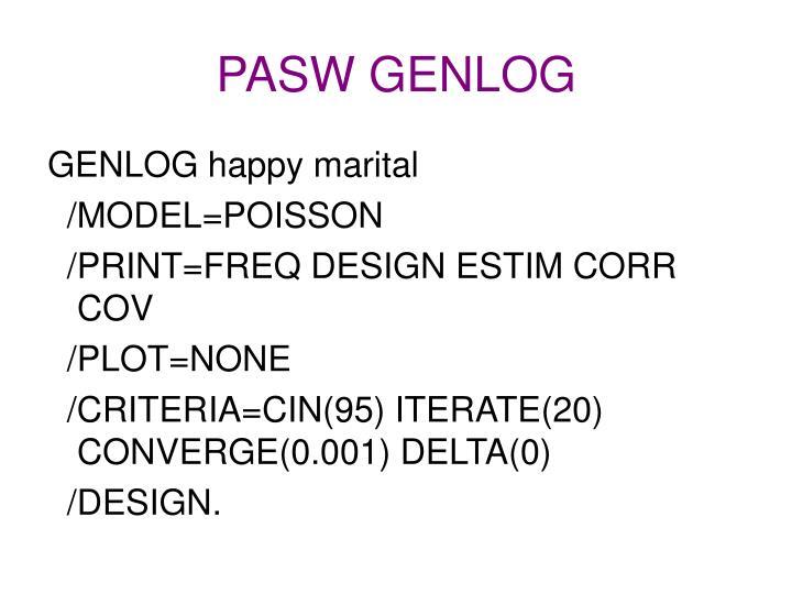 PASW GENLOG