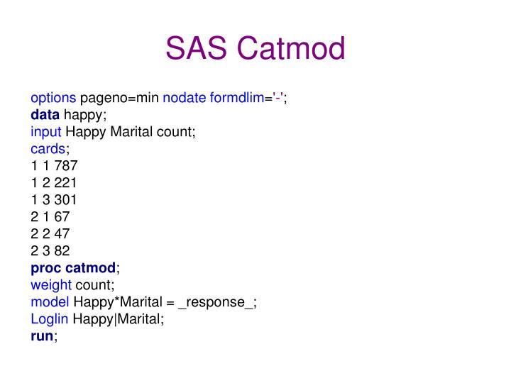 SAS Catmod