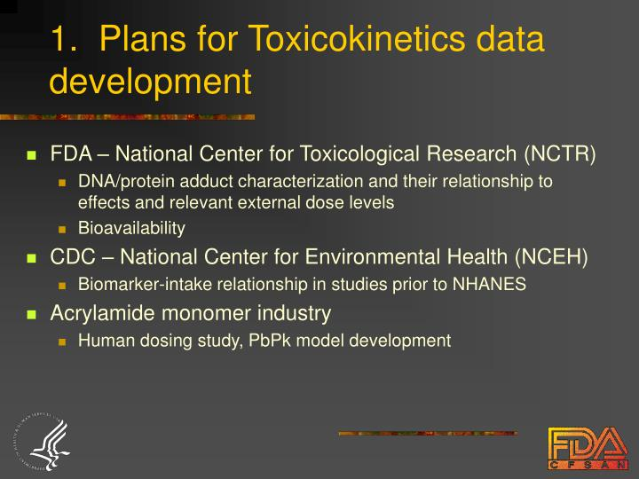 1.  Plans for Toxicokinetics data development