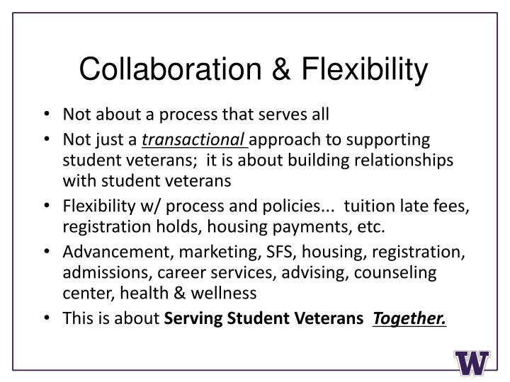 Collaboration & Flexibility