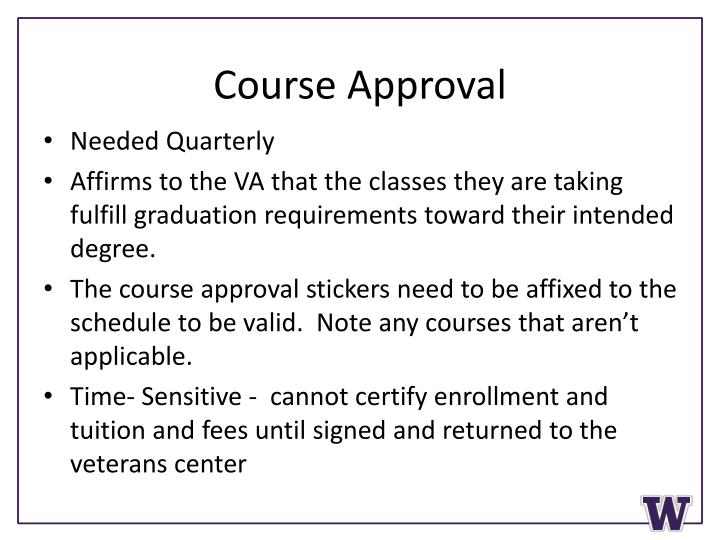 Course Approval