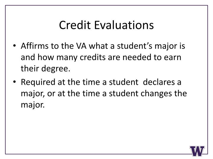 Credit Evaluations