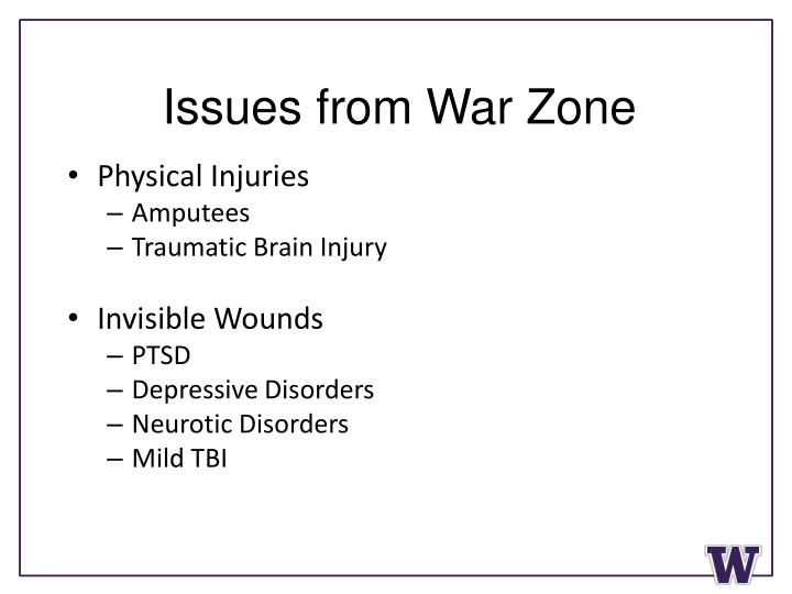 Issues from War Zone