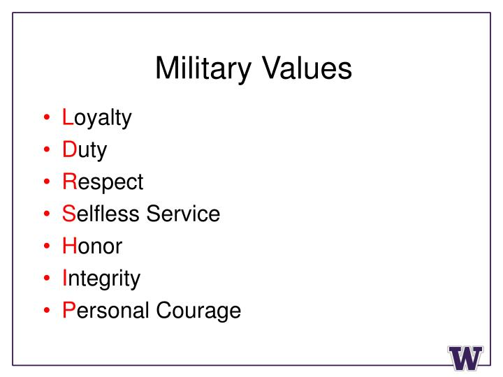 Military Values