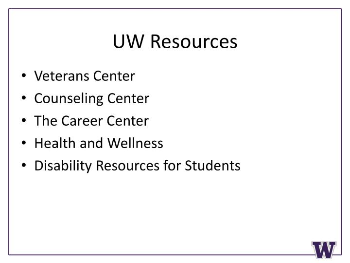 UW Resources