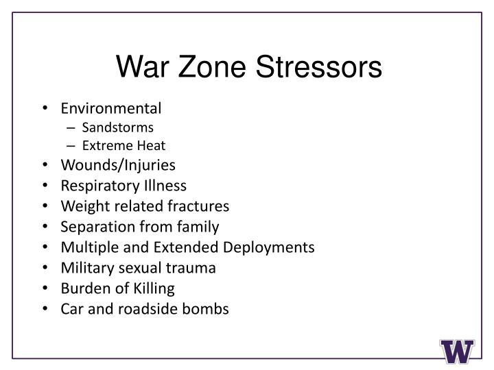 War Zone Stressors