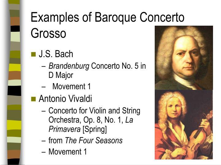 Examples of Baroque Concerto Grosso
