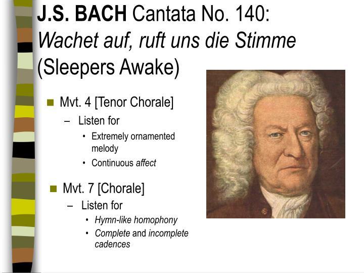 Mvt. 4 [Tenor Chorale]