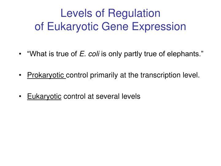 Levels of Regulation