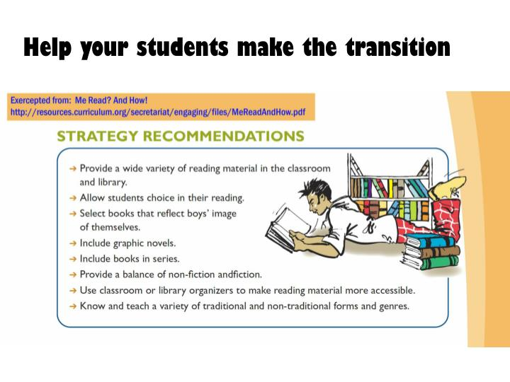 Help your students make the transition