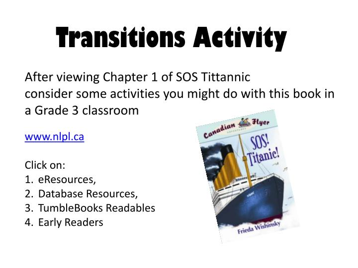 Transitions Activity