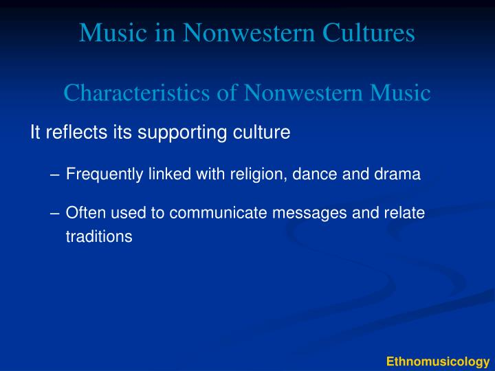 Music in nonwestern cultures